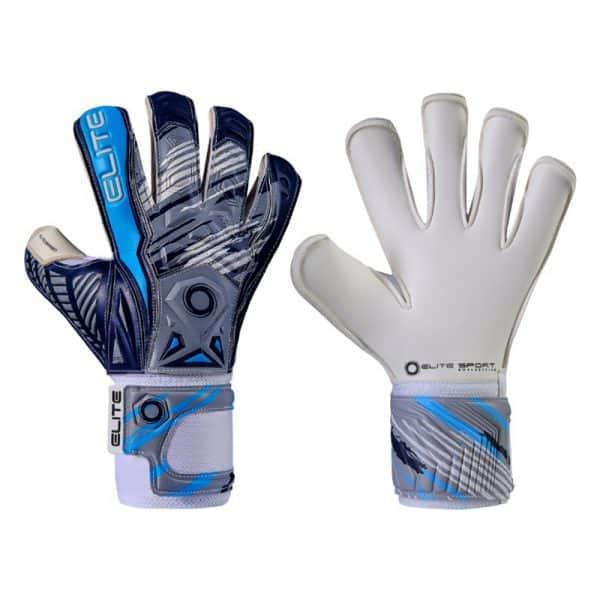 elite brambo.keepershandschoenen.blauw.grijs.wit.