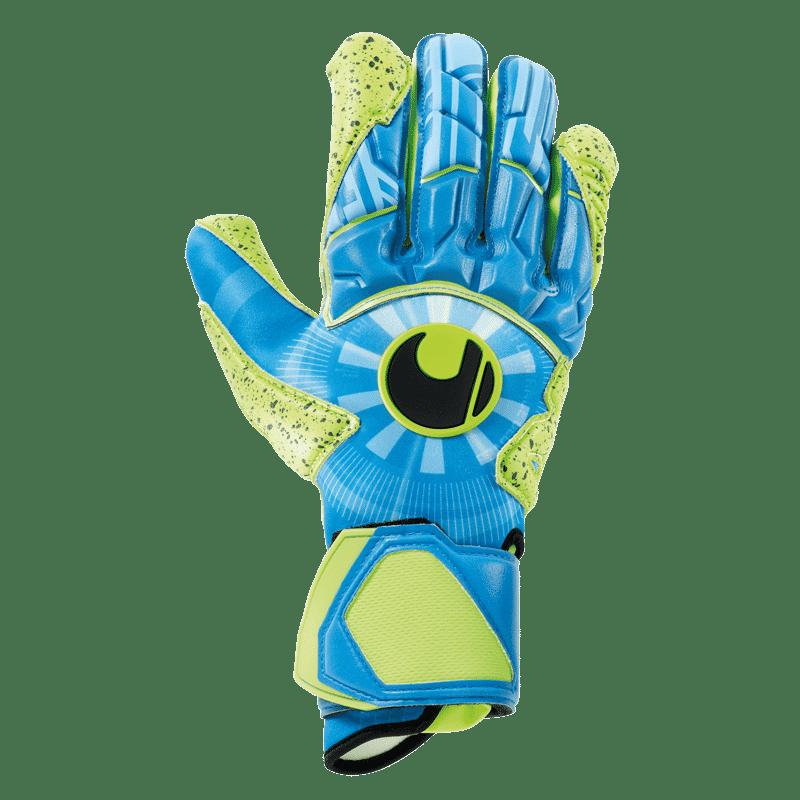 Uhlsport.radar.control.absolutgrip.keepershandschoenen.geel.blauw.